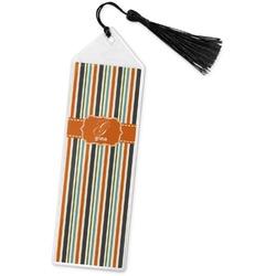 Orange & Blue Stripes Book Mark w/Tassel (Personalized)