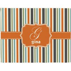 Orange & Blue Stripes Placemat (Fabric) (Personalized)