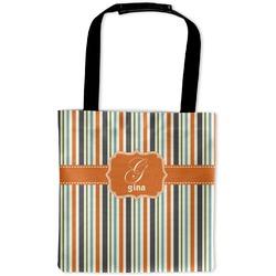 Orange & Blue Stripes Auto Back Seat Organizer Bag (Personalized)