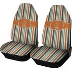 Orange & Blue Stripes Car Seat Covers (Set of Two) (Personalized)
