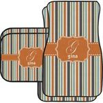 Orange & Blue Stripes Car Floor Mats (Personalized)