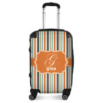 Orange & Blue Stripes Suitcase (Personalized)