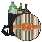 Orange & Blue Stripes Collapsible Cooler & Seat (Personalized)