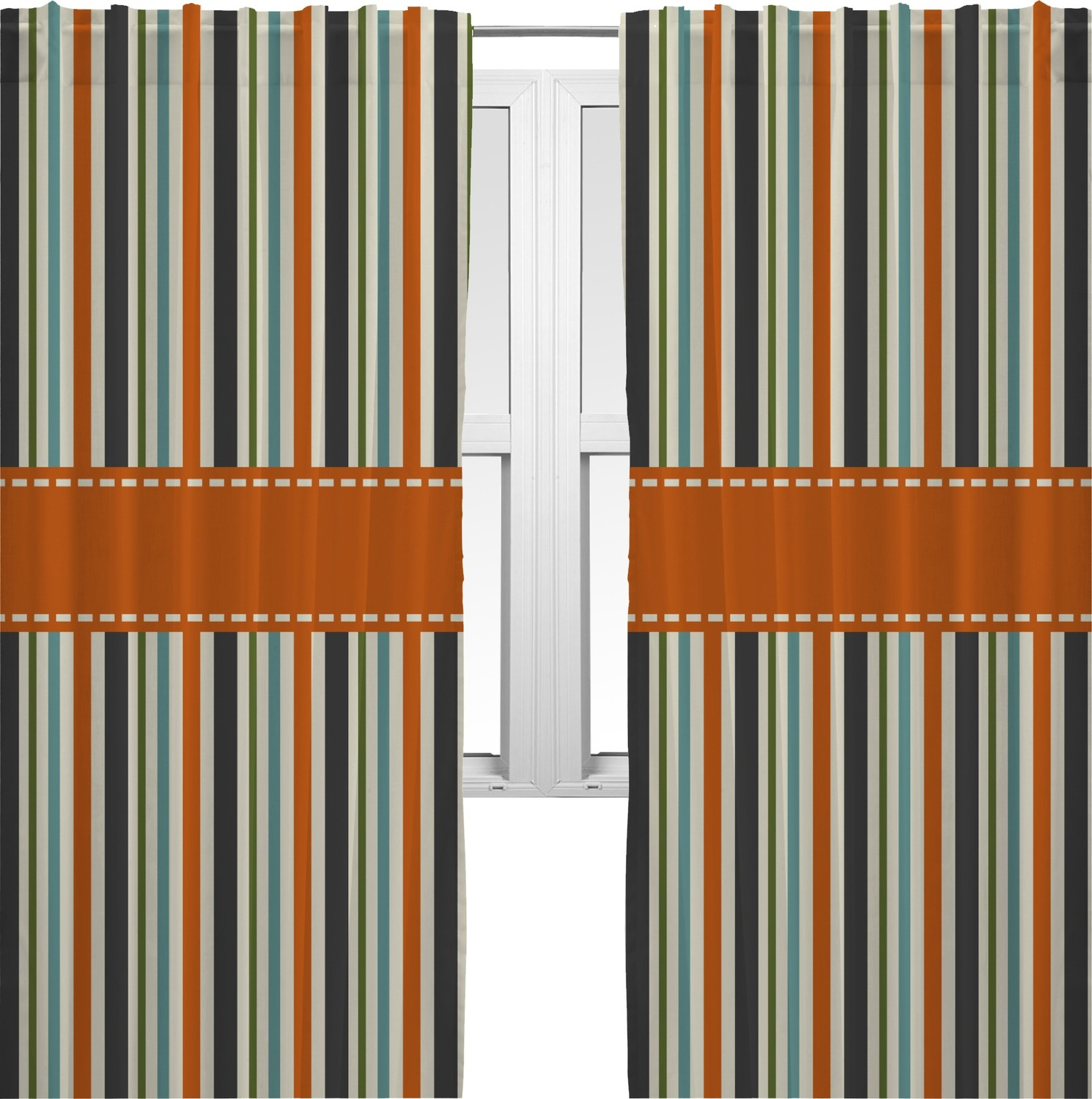 How To Make Curtains Out Of Sheets Orange and Blue Striped Fish