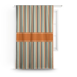Orange & Blue Stripes Curtain (Personalized)