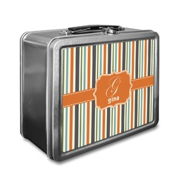 Orange & Blue Stripes Lunch Box (Personalized)
