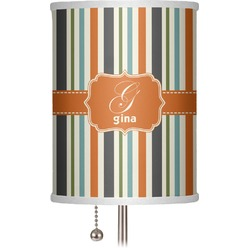 "Orange & Blue Stripes 7"" Drum Lamp Shade (Personalized)"