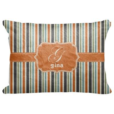 "Orange & Blue Stripes Decorative Baby Pillowcase - 16""x12"" (Personalized)"