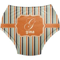 Orange & Blue Stripes Diaper Cover (Personalized)
