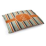 Orange & Blue Stripes Dog Bed (Personalized)
