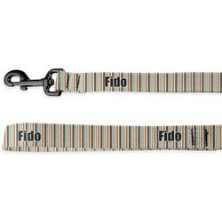 Orange & Blue Stripes Deluxe Dog Leash - 4 ft (Personalized)