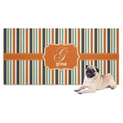 Orange & Blue Stripes Pet Towel (Personalized)