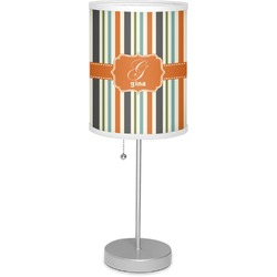 "Orange & Blue Stripes 7"" Drum Lamp with Shade (Personalized)"