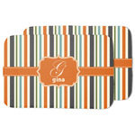 Orange & Blue Stripes Dish Drying Mat (Personalized)