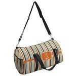 Orange & Blue Stripes Duffel Bag (Personalized)