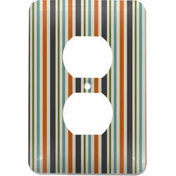 Orange & Blue Stripes Electric Outlet Plate (Personalized)