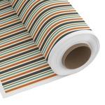 Orange & Blue Stripes Custom Fabric by the Yard (Personalized)