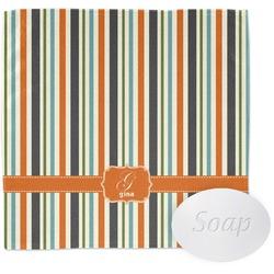 Orange & Blue Stripes Washcloth (Personalized)