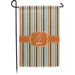 Orange & Blue Stripes Garden Flag - Single or Double Sided (Personalized)