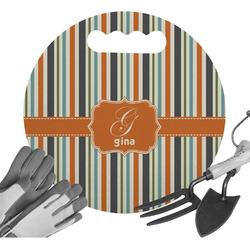 Orange & Blue Stripes Gardening Knee Cushion (Personalized)