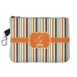 Orange & Blue Stripes Golf Accessories Bag (Personalized)
