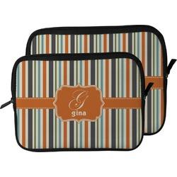 Orange & Blue Stripes Laptop Sleeve / Case (Personalized)
