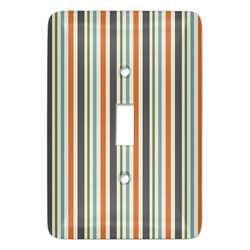 Orange & Blue Stripes Light Switch Covers - Multiple Toggle Options Available (Personalized)