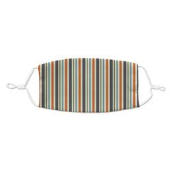 Orange & Blue Stripes Kid's Cloth Face Mask (Personalized)