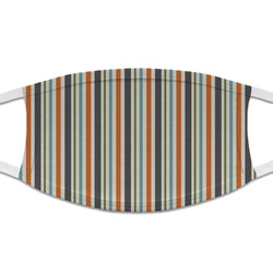 Orange & Blue Stripes Cloth Face Mask (T-Shirt Fabric) (Personalized)