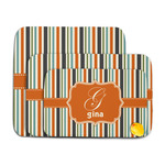 Orange & Blue Stripes Memory Foam Bath Mat (Personalized)