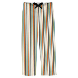 Orange & Blue Stripes Mens Pajama Pants (Personalized)