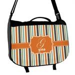 Orange & Blue Stripes Messenger Bag (Personalized)