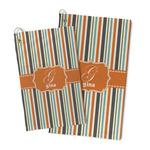 Orange & Blue Stripes Microfiber Golf Towel (Personalized)