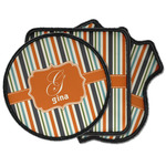 Orange & Blue Stripes Iron on Patches (Personalized)