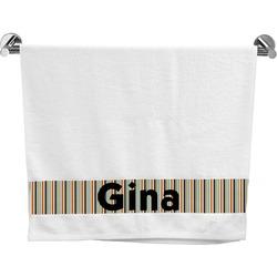 Orange & Blue Stripes Bath Towel (Personalized)