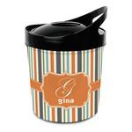Orange & Blue Stripes Plastic Ice Bucket (Personalized)