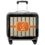 Orange & Blue Stripes Pilot / Flight Suitcase (Personalized)