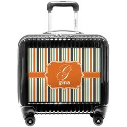 Orange & Blue Stripes Pilot / Flight Suitcase (Personalized)