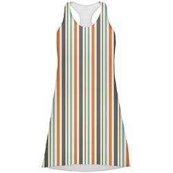 Orange & Blue Stripes Racerback Dress (Personalized)