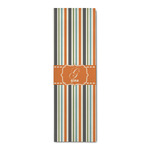 Orange & Blue Stripes Runner Rug - 3.66'x8' (Personalized)