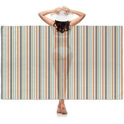 Orange & Blue Stripes Sheer Sarong (Personalized)
