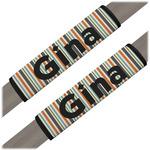 Orange & Blue Stripes Seat Belt Covers (Set of 2) (Personalized)