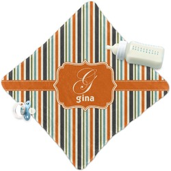 Orange & Blue Stripes Security Blanket (Personalized)