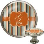 Orange & Blue Stripes Cabinet Knobs (Personalized)