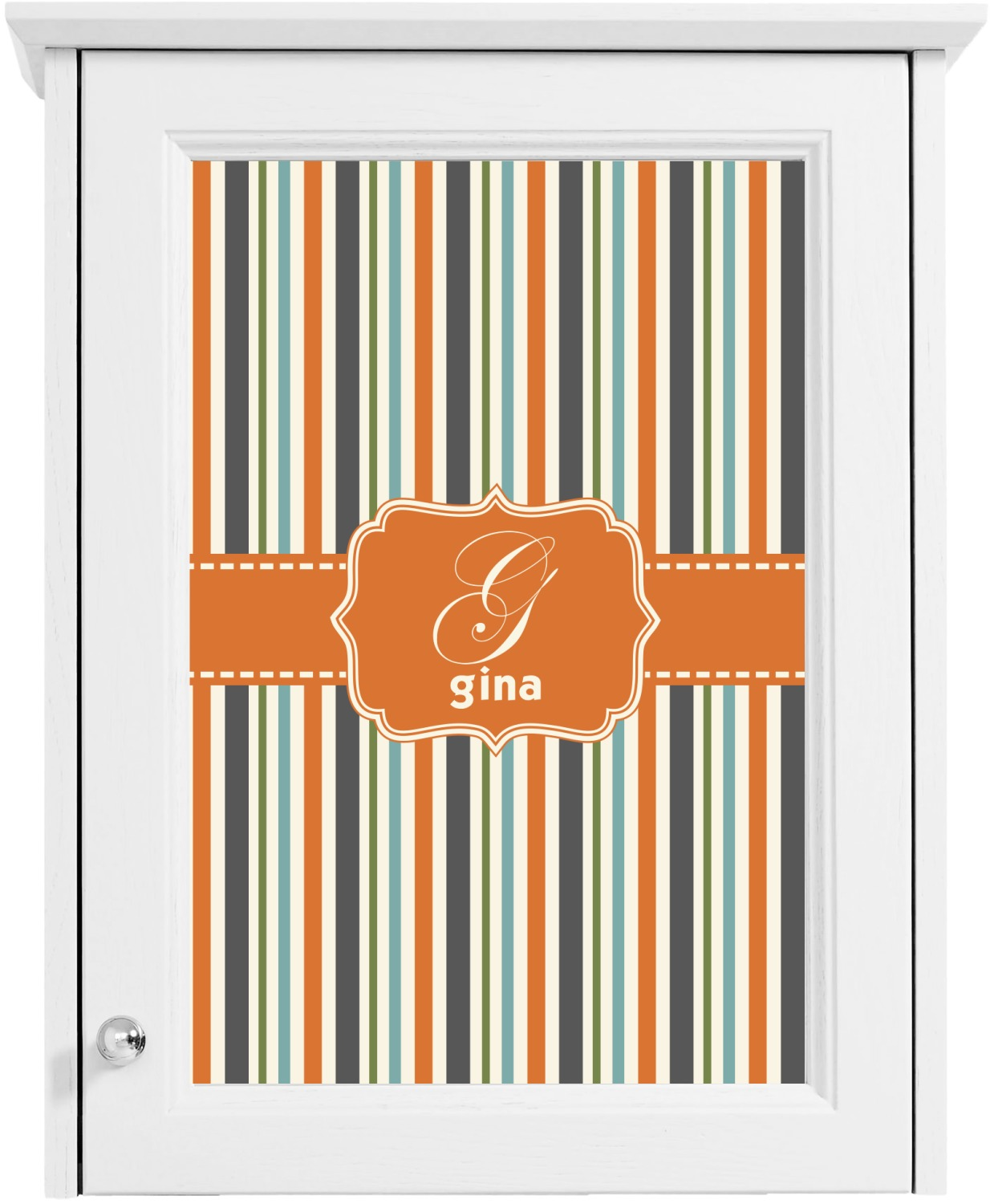 orange blue stripes cabinet decal large personalized With kitchen colors with white cabinets with customize car stickers