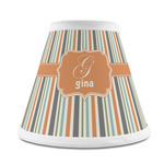 Orange & Blue Stripes Chandelier Lamp Shade (Personalized)