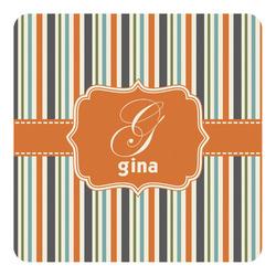 Orange & Blue Stripes Square Decal (Personalized)