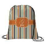 Orange & Blue Stripes Drawstring Backpack (Personalized)