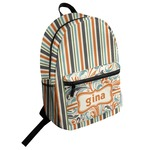 Orange & Blue Stripes Student Backpack (Personalized)