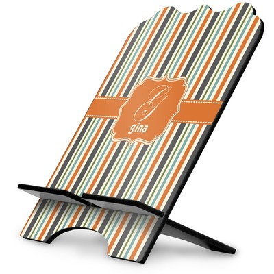Orange & Blue Stripes Stylized Tablet Stand (Personalized)